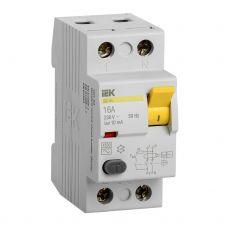 Выключатель дифференциальный (УЗО), ВД1 63, 2P, 16 A, 10 mA, MDV10 2 016 010, IEK