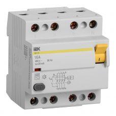 Выключатель дифференциальный (УЗО), ВД1 63, 4P, 16 A, 30 mA, MDV10 4 016 030, IEK