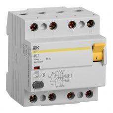 Выключатель дифференциальный (УЗО), ВД1 63, 4P, 40 A, 30 mA, MDV10 4 040 030, IEK