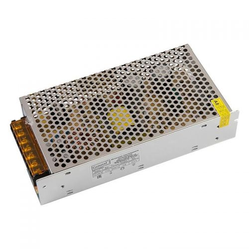 Блок питания для светодиодной ленты 12V 150W 12.5А IP20, код 512700, модель GDLI 150 IP20 12, General