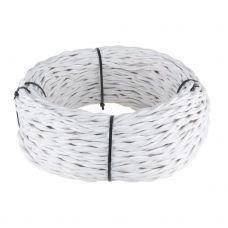 Ретро кабель витой 2х2,5 мм² (белый)