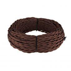 Ретро кабель витой 3х1,5 мм² (коричневый)