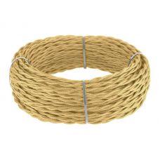 Ретро кабель витой 3х1,5 мм² (золото)