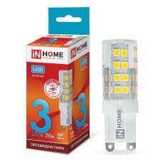 Лампа светодиодная IN HOME LED JCD VC G9 230V 3W 4000K 270Лм 4690612019864