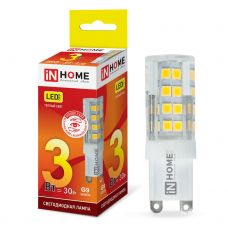 Лампа светодиодная IN HOME LED JCD VC G9 230V 3W 3000K 270Лм 4690612019857