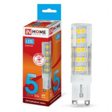 Лампа светодиодная IN HOME LED JCD VC G9 230V 5W 4000K 450Лм 4690612019895