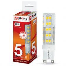 Лампа светодиодная IN HOME LED JCD VC G9 230V 5W 6500K 450Лм 4690612019918