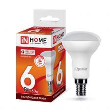Лампа светодиодная LED R50 VC 6Вт 6500К грибок E14 525Лм 4690612031156 IN HOME