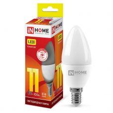 Лампа светодиодная IN HOME LED СВЕЧА VC 11Вт 230В Е14 3000К 820Лм 4690612020464