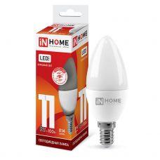 Лампа светодиодная IN HOME LED СВЕЧА VC 11Вт 230В Е14 6500К 820Лм 4690612024844