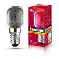 Лампа накаливания для духовок 15/PT/CL/E14, Т25, 15 Вт, Е14, 80 лм, 230 В, 300 град., специальная, 12979, Camelion