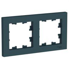 ATLASDESIGN 2 постовая РАМКА, универсальная, ИЗУМРУД, арт. ATN000802, Schneider Electric