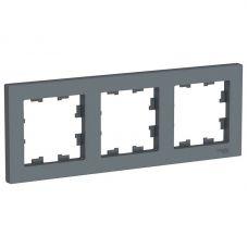 ATLASDESIGN 3 постовая РАМКА, универсальная, ГРИФЕЛЬ, арт. ATN000703, Schneider Electric