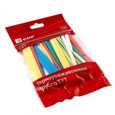 Трубка термоусадочная 6/3, набор (7 цветов по 3 шт), 10 см, tut n 6, EKF