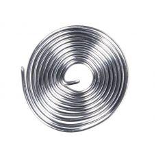 Припой ПОС 61 с канифолью, диаметр 0,8 мм, длина 1 м, спираль, 09 3108, Rexant