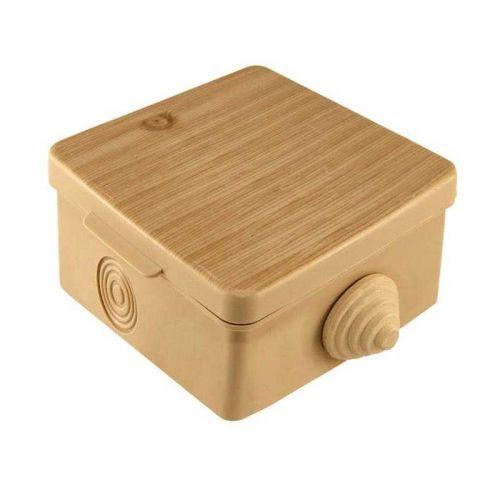 Коробка распаячная для ОП 65х65х50 мм, крышка, сосна, IP54, 4 входа, арт. SQ1401 0711, TDM Electric