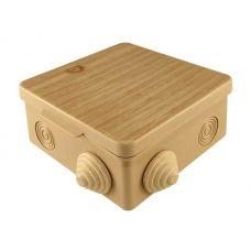 Коробка распаячная для ОП 80х80х50 мм, крышка, сосна, IP54, 7 входов, арт. SQ1401 0712, TDM Electric