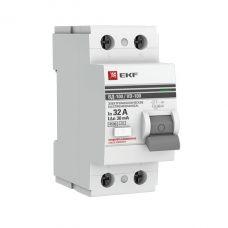 Устройство защитного отключения УЗО ВД 100 2P 32А/30мА (электромеханическое) EKF PROxima, арт. elcb 2 32 30 em pro