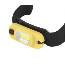 Фонарь налобный ЭРА GA 801 Практик, 1 LED, 3 Вт COB, Li аккум, желтый пластик