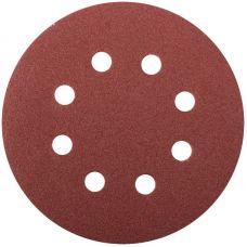 Круги шлифовальные с отверстиями (липучка), алюминий оксидные, 125 мм, 5 шт. Р 100     FIT