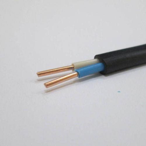 Кабель силовой ВВГ Пнг(А) LS 2х1,5 мм², черный, плоский, ГОСТ