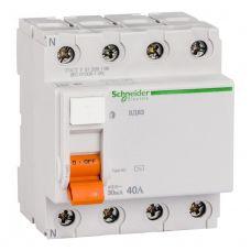 Выключатель дифференциальный (УЗО), ВД63 Домовой, 4P, 40 А, 30 mA, 11463, Schneider Electric