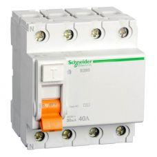Выключатель дифференциальный (УЗО), ВД63 Домовой, 4P, 63 А, 300 mA, 11468, Schneider Electric