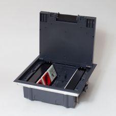 300007 Люк на 6 постов (45х45),металл/ пластик, с пластиковой коробкой, IP40