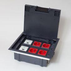 300006 Люк на 6 постов (45х45), металл/ пластик, с пластиковой коробкой, IP40