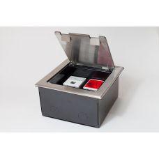 300014 Люк на 4 поста (45х45), из нержавеющей стали, с коробкой, IP40