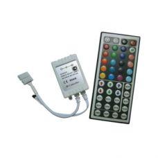 Контроллер для ленты RGB 6А 72W 12V, инфракрасный, с большим пультом, арт. CRL072ESB, Ecola