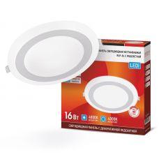 Панель светодиодная IN HOME RLP BL 16Вт 4000К IP20 960 лм 195 мм круглая белая 4690612032979