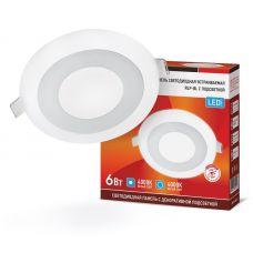 Панель светодиодная IN HOME RLP BL 6Вт 4000К IP20 350 лм 105 мм круглая белая 4690612032955