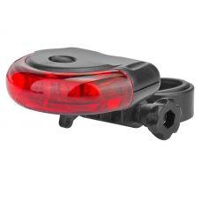 Фонарь велосипедный задний JY 154R, 5 LED, 2xAAA, красно черный цвет, арт. 560099, STELS
