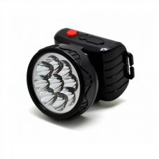Фонарь налобный аккумуляторный Трофи TG9, 9 LED, 2 режима, пластик