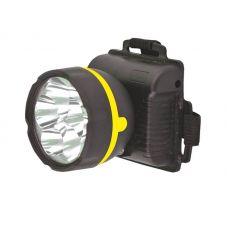 Фонарь налобный Ultraflash 909LED5, 5 LED, 3xAA, черный, пластик