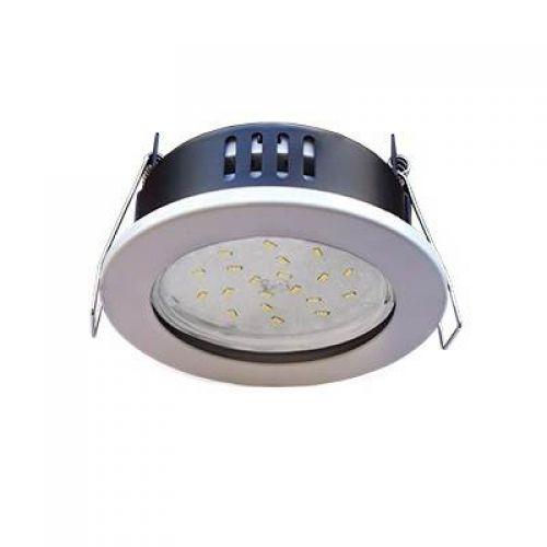 Светильник встраиваемый Ecola H9, FW5365ECB, патрон GX53, IP65, без рефлектора, Белый