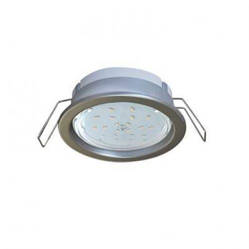 РАСПРОДАЖА Светильник встраиваемый Ecola PD, FS53PDECC, патрон GX53, глубокий легкий Серебро
