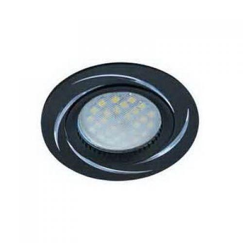 Светильник встраиваемый Ecola DL3181, FB1607EFF, патрон GU5.3, литой матовый Черный/Алюм Вихрь