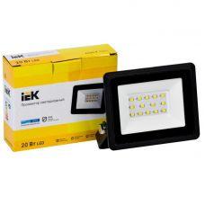 Прожектор светодиодный 20Вт 6500К СДО 06 20 IP65 1600лм черный LPDO601 20 65 K02 IEK