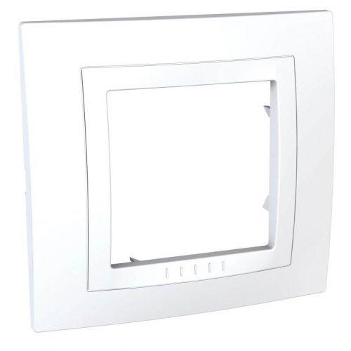 Рамка 1 постовая, моноблок, белая, UNICA, арт. MGU2.002.18M, Schneider Electric