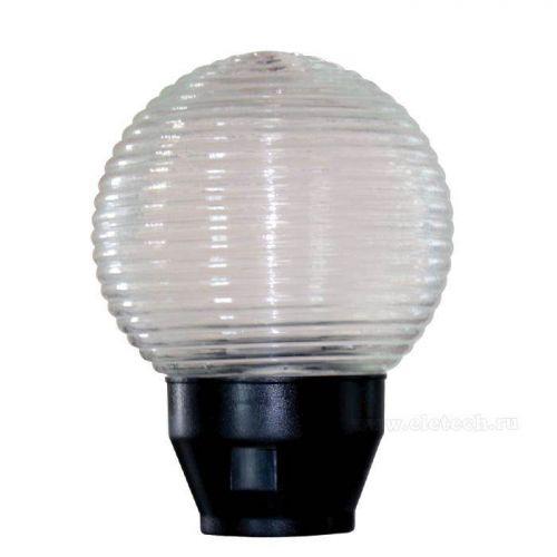 Светильник НТУ 06 60 02, прозрачный/корпус черный