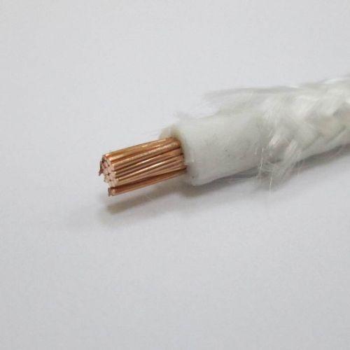 Провод РКГМ 4 мм², белый, оплетка из стекловолокна