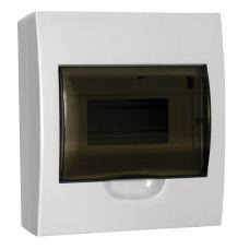 Корпус навесной ЩРН П 8, IP41, пластик, белый, прозрачная дверь, MKP12 N 08 40 20, IEK