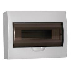 Корпус навесной ЩРН П 12, IP41, пластик, белый, прозрачная дверь, MKP12 N 12 40 10, IEK