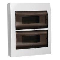 Корпус навесной ЩРН П 24, IP41, пластик, белый, прозрачная дверь, MKP12 N 24 40 10, IEK