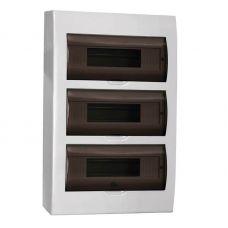 Корпус навесной ЩРН П 36, IP41, пластик, белый, прозрачная дверь, MKP12 N 36 40 05, IEK