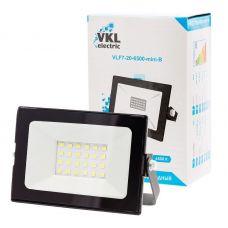 Прожектор светодиодный 20Вт 6500К VLF7 20 6500 mini B IP65 черный VKL electric