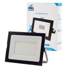 Прожектор светодиодный 50Вт 6500К VLF7 50 6500 mini B IP65 черный VKL electric