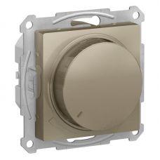 ATLASDESIGN СВЕТОРЕГУЛЯТОР (диммер) поворотно нажимной, 630Вт, мех., ШАМПАНЬ, арт. ATN000536, Schneider Electric